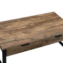 Natural Rustic Wood & Metal Coffee Table