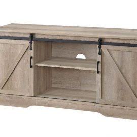 "Oak Finished Barn Door 58"" TV Stand"