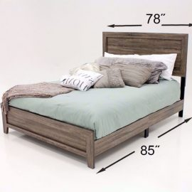 Millie Grey/BRN Bed Frame