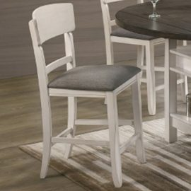 White and Gray CH Dining Chairs