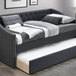 Nailhead Upholstered Daybed w/ Trundle 3 Colors