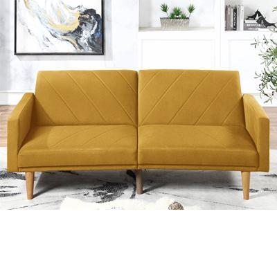 Mustard Polyfiber Adjustable Sofa