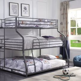 Caius II Metal Triple Bunk Bed