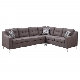 Kayla 4pc Sectional Brown