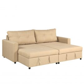ROBIN Storage Chaise-Sofa in Khaki