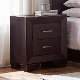 Kauffman 2-Drawer Nightstand Dark Cocoa