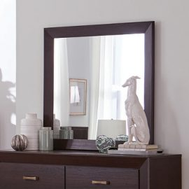 Kauffman Rectangular Mirror Dark Cocoa