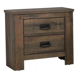 Frederick 2-Drawer Nightstand Weathered Oak