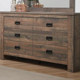 Frederick 6-Drawer Dresser Weathered Oak