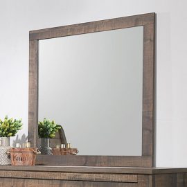 Frederick Square Mirror Weathered Oak