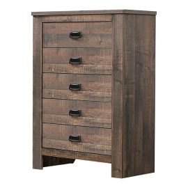 Frederick 5-Drawer Chest Weathered Oak