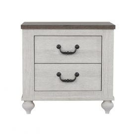 Stillwood 2-Drawer Nightstand Vintage Linen