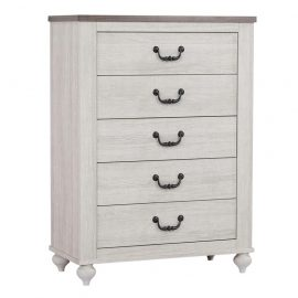 Stillwood 5-Drawer Chest Vintage Linen