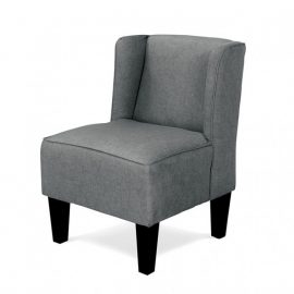 Sven Kids Gray Upholstered Chair