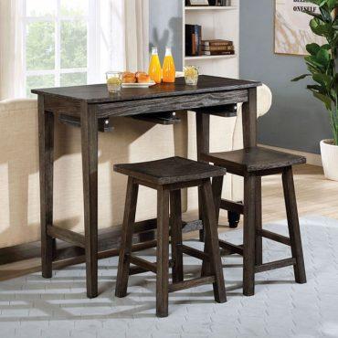 Elinor Bar Wood Table Set