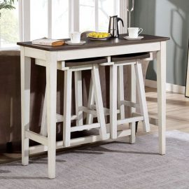Elinor Bar Two-Tone Wood Table Set