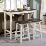 Elinor Bar Two-Tone Wood Table Set