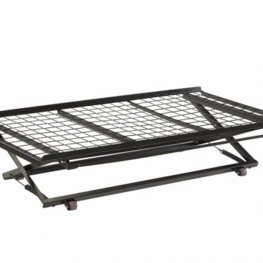 Pop Up Trundle Bed With Rollers Black Twin