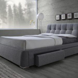 Fenbrook Tufted Upholstered Storage Bed Grey