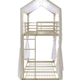 Belton Twin/Twin Bunk Bed With Canopy Champagne Side