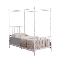 Betony Twin Canopy Bed White
