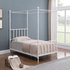 Betony Twin Canopy Bed White