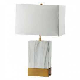 Faith Marble Gold USB Table Lamp