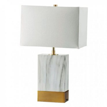 Faith Marble Gold USB Table Lamp