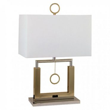 Jessica Brushed Steel Table Lamp