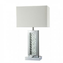 Abbi luxurious White Table Lamp