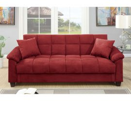Comfortable Adjustable RedStorage Sleeper Sofa