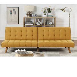 Sofa Sleeper Tufted in Mustard