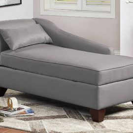 Storage Lounge Chaise in Grey
